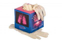 Caja con guantes de latex